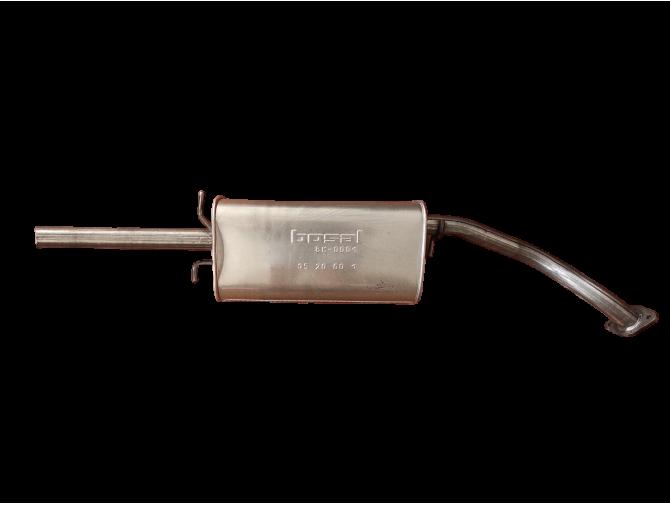Глушитель ДЭУ Ланос - Сенс (Daewoo Lanos - Sens) (TF69Y0-1201009-12) 05.09 под фланец Bosal алюминизированный