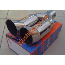 Насадка на глушитель (двойная) CarEx YFX-0007