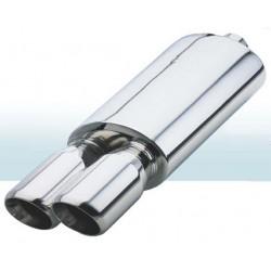 Прямоточный глушитель (двойная насадка) CarEx YFX-0703