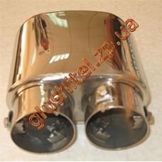 Насадка на глушитель (плоская - два входа) CarEx YFX-0026