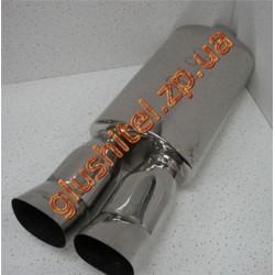 Прямоточный глушитель (двойная насадка) CarEx YFX-0639