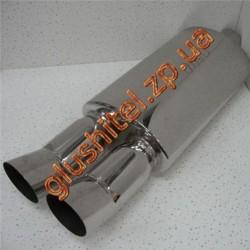 Прямоточный глушитель (двойная насадка) CarEx YFX-0640