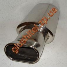 Прямоточный глушитель (плоская насадка 0109В) CarEx YFX-0650