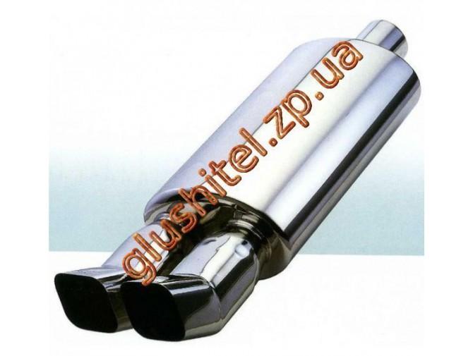Прямоточный глушитель (двойная насадка) CarEx YFX-0730