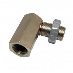 Обманка лямбда зонда (эмулятор катализатора) евро 2 - 3 угловая никелированная CBD