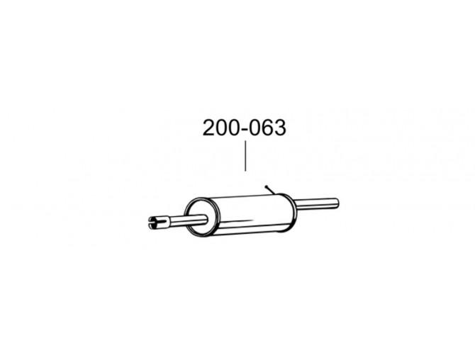 Глушитель Дача Сандеро (Dacia Sandero) 1.4/1.6 07-13 (200-063) Bosal 02.00 алюминизированный