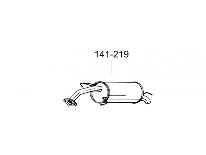 Глушитель Шевроле Авео (Chevrolet Aveo) Хетчбек (141-219) Bosal 05.59 алюминизированный