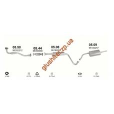 Труба приемная ДЭУ Ланос - Сенс (Daewoo Lanos - Sens) (05.50) Черновцы (Sks)