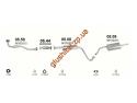 Прямоточный глушитель ДЭУ Ланос - Сенс (Daewoo Lanos - Sens) спорт нержавеющий выпуск флянец Мелитополь ЮТАС
