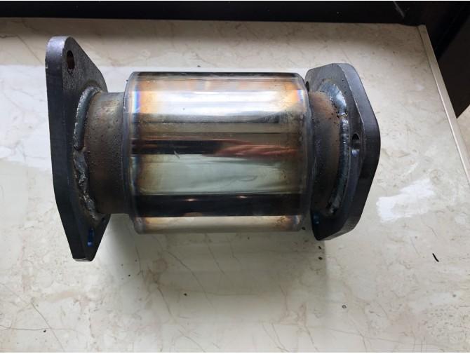 Пламегаситель коллекторный Chevrolet Aveo 1.5, 1.6 с фланцами DMG