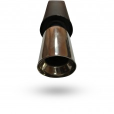 Прямоточный глушитель YFX-0031 (V001) алюминизированный/нержавейка