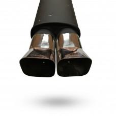 Прямоточный глушитель YFX-0639 (V005) алюминизированный/нержавейка