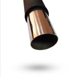 Прямоточный глушитель V024 алюминизированный/нержавейка