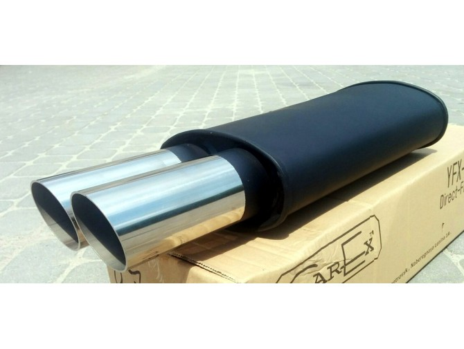 Прямоточный глушитель V025 алюминизированный/нержавейка