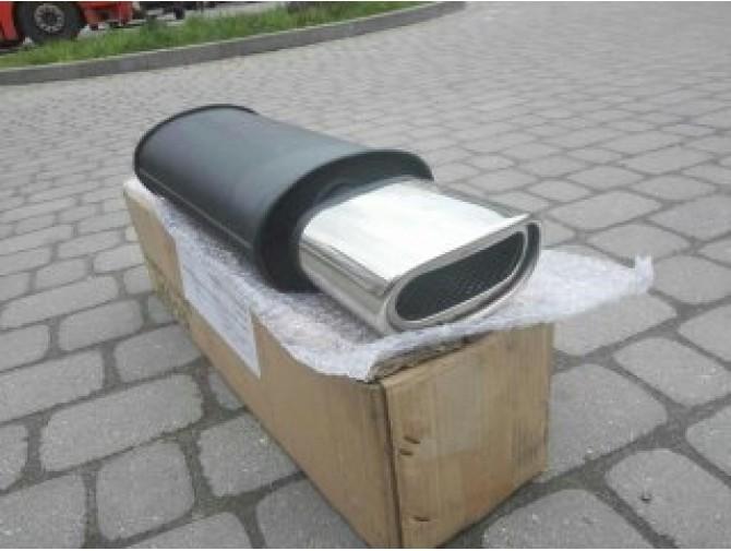 Прямоточный глушитель YFX-0395 (V031) алюминизированный/нержавейка