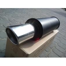 Прямоточный глушитель YFX-0632 (V003) алюминизированный/нержавейка