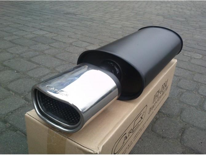 Прямоточный глушитель YFX-0674 (V010) алюминизированный/нержавейка