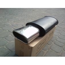 Прямоточный глушитель YFX-0689 (V013) алюминизированный/нержавейка