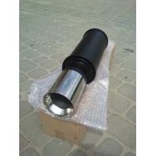 Прямоточный глушитель YFX-0659 (V008) алюминизированный/нержавейка