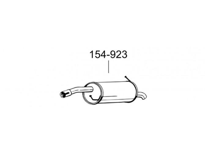 Глушитель Форд Фиєста (Ford Fiesta)/Мазда 2 (Mazda 2) 1.4/1.2 01-07 (154-923) Bosal 08.542 алюминизированный