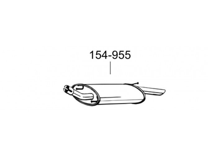 Резонатор Мазда 121 (Mazda 121)/Форд Фиеста (Ford Fiesta) 95-98 1.25/1.3i kat (286-955) Bosal 08.162 алюминизированный