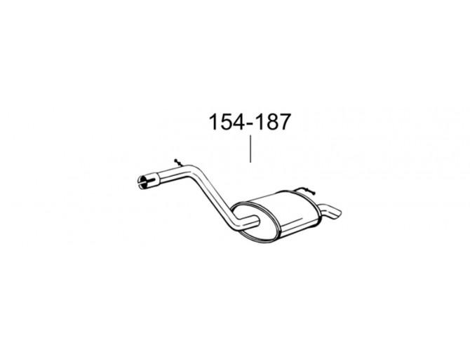 Глушитель Форд Мондео (Ford Mondeo) 2.0 DCi/TDCi kombi 01-07 (154-187) Bosal 08.613 алюминизированный