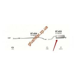 Глушитель Фиат Гранде Пунто (Fiat Grande Punto) 1.2 - (07.433) Polmostrow алюминизированный