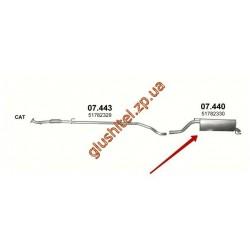 Глушитель Фиат Гранде Пунто (Fiat Grande Punto) 1.3 D 05-10 (07.440) Polmostrow алюминизированный