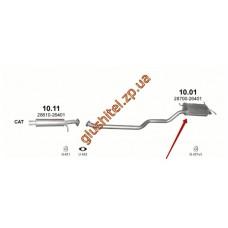 Глушитель Хюндай Санта Фе (Hyundai Santa Fe) 00-06 2.0D (10.01) Polmostrow алюминизированный
