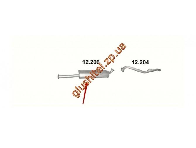 Глушитель Мазда Б2500 (Mazda B2500) 2.5D 96-02 (12.206) Polmostrow алюминизированный