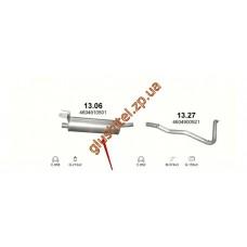Глушитель Мерседес Г-Класс (Mercedes G-Class) 3.0/2.3/2.4/2.5/3.0D 79-00 (13.06) Polmostrow алюминизированный