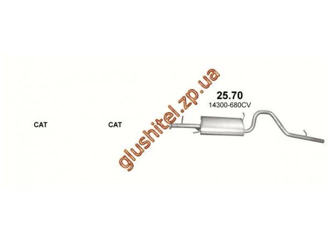 Глушитель Сузуки Гранд Витара (Suzuki Grand Vitara) 2.0 D 03 (25.70) Polmostrow алюминизированный