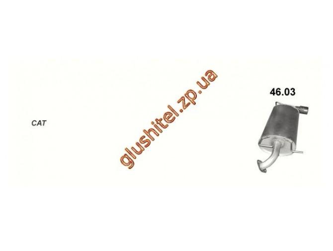 Глушитель Субару Импреза 2.0 08 (Subaru Impreza 2.0 08) (46.03) Polmostrow алюминизированный