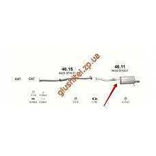 Глушитель Субару Импреза 1.6/1.8 93-00 (Subaru Impreza 1.6/1.8 93-00) (46.11) Polmostrow алюминизированный