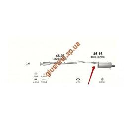 Глушитель Субару Форестер 4x4 2.0 02-08 (Subaru Forester 4x4 2.0 02-08) (46.16) Polmostrow алюминизированный