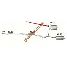 Глушитель Субару Форестер 4x4 2.0 D (Subaru Forester 4x4 2.0 D) (46.22) 08-13 Polmostrow алюминизированный