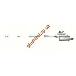 Глушитель Субару Форестер 4x4 2.5 05 (Subaru Forester 4x4 2.5 05) (46.31) Polmostrow алюминизированный
