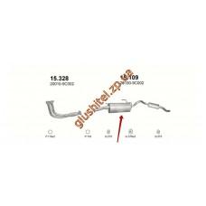 Глушитель Ниссан Серена (Nissan Serena) 2.0D/2.3D 92-03 (15.109) Polmostrow алюминизированный