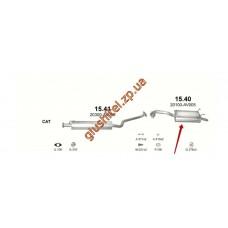 Глушитель Ниссан Примера (Nissan Primera) 2.0 02-07 (15.40) Polmostrow алюминизированный