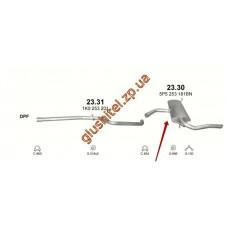 Глушитель Сеат Алтея (Seat Altea) / Сеат Толедо (Seat Toledo) 1.9D 04-10 (23.30) Polmostrow алюминизированный