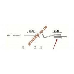 Глушитель Шкода Фабия (Skoda Fabia)  1.2 05-10 (24.13) Polmostrow алюминизированный