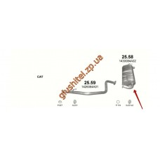Глушитель Сузуки Джимми (Suzuki Jimny) 1.3 00- (25.58) Polmostrow алюминизированный