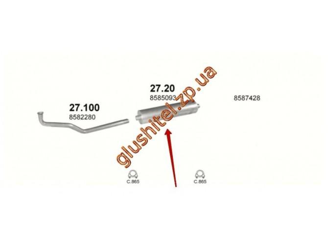 Глушитель 27.20 Iveco Daily 2.5D 85-89 Polmostrow алюминизированный