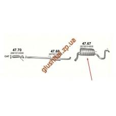 Глушитель Киа Сид (Kia Ceed) 1.4/1.6 06-09 (47.67) Polmostrow алюминизированный