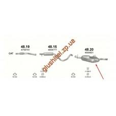 Глушитель Сааб 9-3 (Saab 9-3) 2.0 94-03 (48.20) Polmostrow алюминизированный