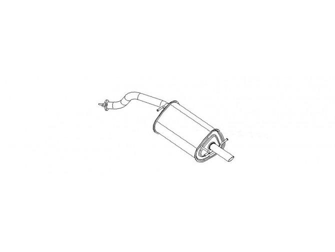 Глушитель ДЭУ Ланос (Daewoo Lanos) хэтчбек (TF48YP-1201009) Bosal 05.10 алюминизированный