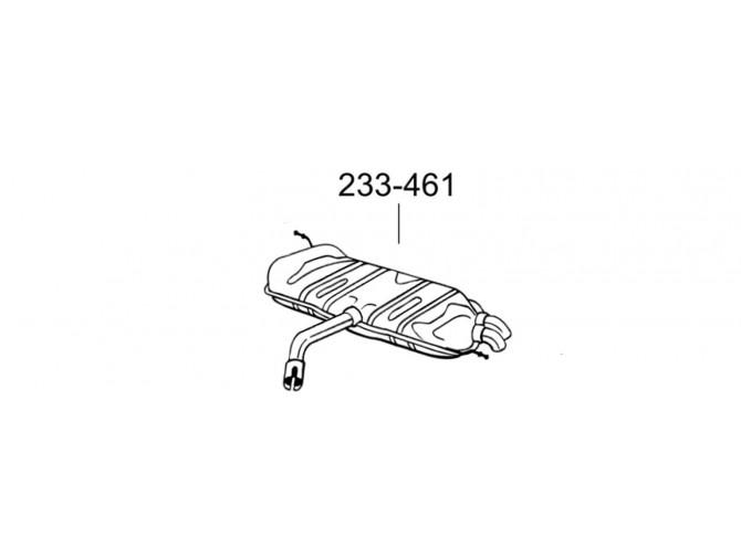 Глушитель Фольксваген Туран (Volkswagen Touran) 1.9 TDi / 2.0 TDi 03 - 10 (233-461) Bosal алюминизированный
