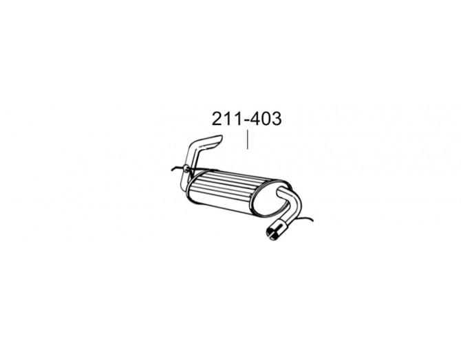 Глушитель Лэндровер Фриленд (Landrover Freelande) 00- (211-403) Bosal 53.08 алюминизированный