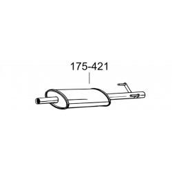 Глушитель Мерседес Спринтер (Mercedes Sprinter) 208D 308D 408D 02/95-04/00 2.3D (175-421) Bosal 13.18 алюминизированный