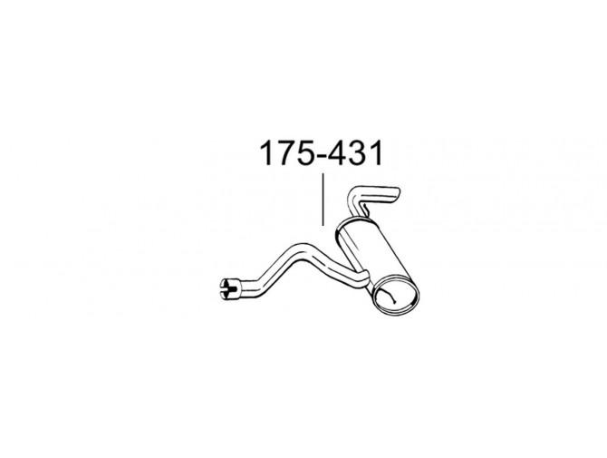 Глушитель Мерседес Виано (Mercedes Viano) 3.0 D (175-431) Bosal алюминизированный